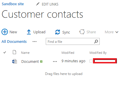 Customer Contacts