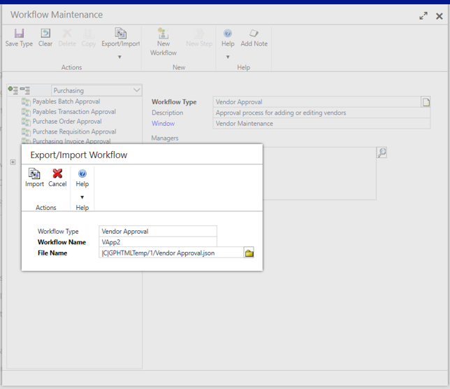 Workflow Type Match in Dynamics GP