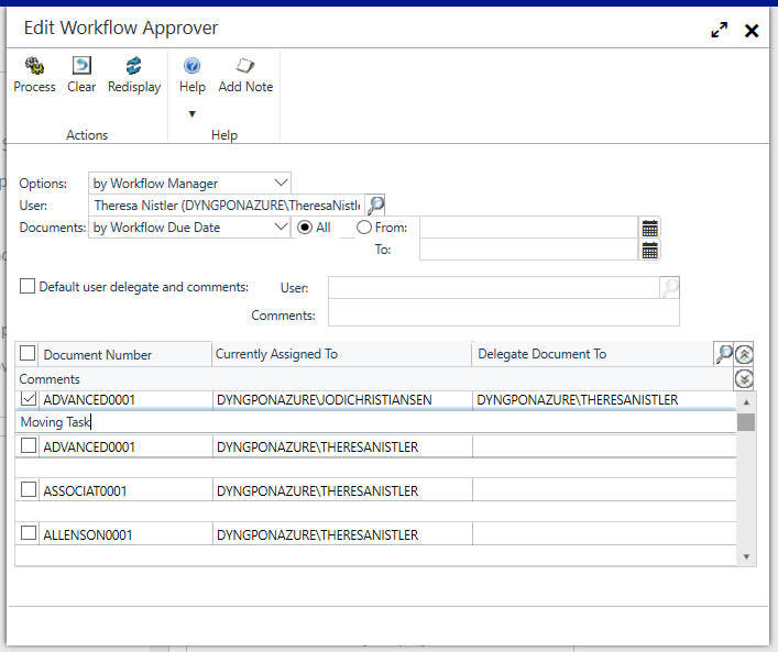 Edit Workflow Approver in Dynamics GP